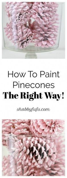 Secrets To Painting Pinecones For Christmas The Right Way is part of Nature crafts Pinecones - Painting pinecones is perfect for any holiday decorating because pinecones and free and so this is budget friendly! Make a batch of painted pinecones DIY! Pine Cone Art, Pine Cone Crafts, Christmas Projects, Fall Crafts, Holiday Crafts, Diy Crafts, Painting Pine Cones, Pine Cone Wreath, Beach Crafts