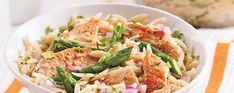 Salade d'orzo asperges, et poulet grillé - Complètement poireau