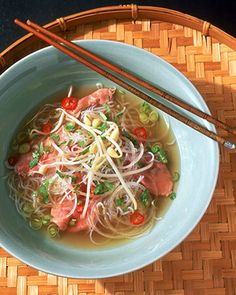 "Pho (Vietnamese Beef and Noodle Soup)    I combined this simple Martha Stewart recipe with some of the more intricate Pho recipe details in ""Recipe Newz"".  Delicious!"