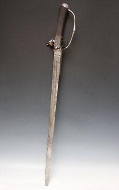 """Arma """"supuestamente""""  blandida por Lord Nelson en la batalla de Trafalgar."""