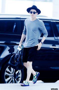 150724: EXO Suho (Kim Joonmyun); Incheon Airport to Kansai Airport #exok #fashion #style #kpop