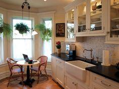 Updated galley kitchen with breakfast nook