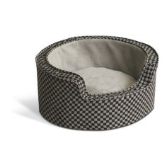 K&H 18-Inch Round Self-Warming Comfy Sleeper, Small, Gray/Black Squares - http://www.thepuppy.org/kh-18-inch-round-self-warming-comfy-sleeper-small-grayblack-squares/