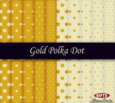 Classic+Gold+Polka+Dot+Digital+Paper+Gold+Print+by+SheeneCocole,+$3.99