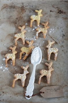 ☆ White Christmas Wonderland ☆  reindeer cookies