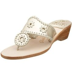 Jack Rogers wedges. Classic. Perfect for Palm Beach in May.