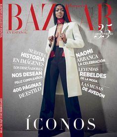 Naomi Campbell for Harpers Bazaar Latin America September 2014 Cover