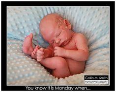 Baby Boy uh oh newborn photography