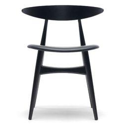 CH33 Chair by Hans J. Wegner (1956). Designer: Hans J. Wegner. Manufactured under license in Denmark by Carl Hansen & Son.A star reborn: A compact design by