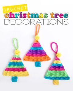 Crochet Christmas Tree Ornaments  mypoppet.com.au