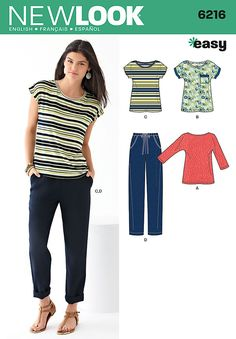 New Look 6216 Misses Top and pants sewing pattern