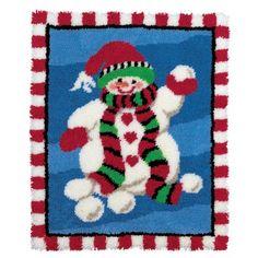 Mary Maxim - Snuggly Snowman Latch Hook Rug Kit - Latch Hook Rug Kits - Latch Hook - Crafts