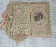 3rd inside page - Mixed Media Fabric Collage Book of Little Angels | eBay (sold) see all the pages on eBay