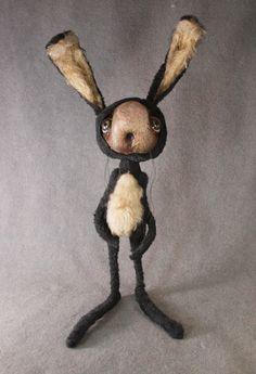 Mixed media Rabbit, Art Rogers Designs