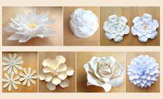 Papier-Blumen als traumhafte Tischdeko an der Hochzeit Nice Asses
