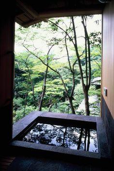 若王子のゲストハウス 横内敏人建築設計事務所 Japanese Bath, Japanese Modern, Japanese House, Japanese Design, Wabi Sabi, Hot Springs, Pond, Life Is Good, Survival