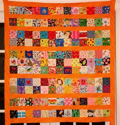 The Q and the U by Riel Nason: I Spy Quilt Top Finished