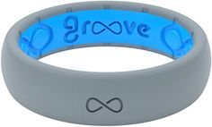 Groove Life Silicone Wedding Ring for Women - Breathable Rubber Rings for Women, Lifetime Coverage, Unique Design, Comfort Fit Womens Ring - Thin Solid
