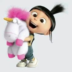 Despicable Me - Agnes and unicorn