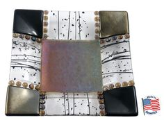 Colorz4you - Earth Tone Glass Fusion Square Dish, $59.95 (http://www.colorz4you.com/earth-tone-glass-fusion-square-dish/)