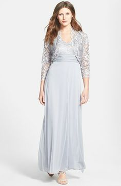 Patra Lace Overlay Gown & Bolero (Regular & Petite) available at #Nordstrom, very nice....