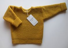 Infant's/Toddler's knitted Lambswool round neck Sweater with Oak Buttons
