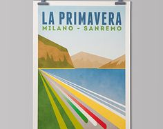 Radsport-Kunstdrucke 'Monument ein Tag von TheHandmadeCyclist