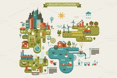 Ecology InfoGraphic ~ Presentation Templates on Creative Market