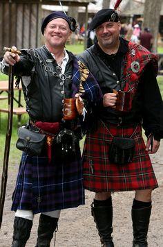 Men in kilts Renaissance Faire costume Scarborough Fair