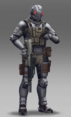 This is the most complete style that I like. I like this helmet alot!!  Soldier by Hokunin.deviantart.com on @deviantART