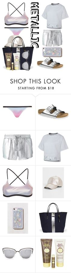 """Untitled #37"" by blurrysof ❤ liked on Polyvore featuring Topshop, Birkenstock, Zoe Karssen, NIKE, maurices, Urban Outfitters, Quay and Sun Bum"