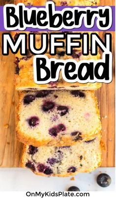 All the flavors you love in a blueberry muffin, but made in a loaf pan! Have this sweet, delicious Blueberry Muffin Bread on your table in about an hour. Blueberry Quick Bread, Blueberry Cake, Blueberry Recipes, Banana Bread, Muffin Bread, Muffin Cups, Breakfast Muffins, Breakfast For Kids, Brunch Ideas For A Crowd