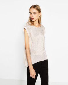 Image 2 of SHINY DOUBLE T-SHIRT from Zara