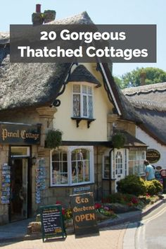 Love that thatched cottage look? These are some really gorgeous English examples!