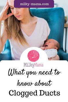 Did you know clogged ducts are more likely to occur in the early days of motherhood? Engorgement can lead to clogged milk ducts and the breast is made up of around 15-30 milk glands. If you do end up with clogged ducts, there are several things you can do to remove the clog. Click here to learn what clogged ducts are, how they happen, what they lead to, and how to prevent them when possible. Mastitis, Breastfeeding, New Mom, New Baby, Milk Supply, Breastfed, Pumping Extended Breastfeeding, Breastfeeding Classes, Breastfeeding Positions, Breastfeeding Problems, Breastfeeding And Pumping, Postpartum Recovery, Postpartum Care, Postpartum Depression, New Baby Checklist