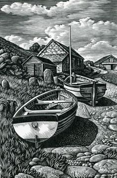 Howard Phipps, Beached Boats, Penberth