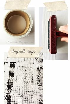 alisaburke: my favorite everyday things- for painting Currently I am obsessed with dry wall tape. I use it as a stamp and a stencil and love the delicate grid that it creates.