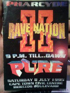 "Pharcyde ""Rave Nation"" flyer I kept from 1995"