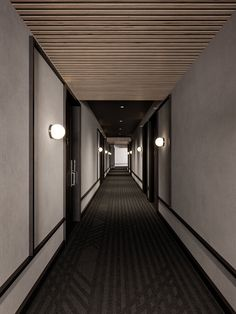 Corridor Hotel Corridor, Corridor Lighting, Lobby Interior, Student House, Hallway Designs, Lobby Design, Hotel Interiors, Hotel Lobby, Hospitality Design