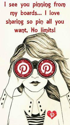 I love sharing my pins so pin all you want, No limits ♥ Tam ♥