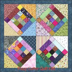 Easy Way To Make Triangle Quilt Blocks Easy Way To Make Tshirt Quilt 9 Patch Scrappy Fabric Patchwork Prim Wall Hanging Easy To Make Quilt Blocks Top Kit Free Easy To Make Quilt Patterns