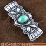 Native American Indian Jewelry Turquoise Sterling Silver Old Pawn Vintage Style Barrette