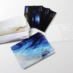 Now! In this moment : Little gift on My etsy shop!  http://ift.tt/2gVs9oU a triptych  3 postcards that can be sent  They represent my sea in three versions - A night sea much loved by my customers - an abstract turquoise sea seen from above with a wreck on the shore - A sea of white collection with yellow and purple tones popular for living rooms bedrooms and  for girly rooms  Three postcards that can be a mini gift for those you love  Three postcards for you who still love to write and send…