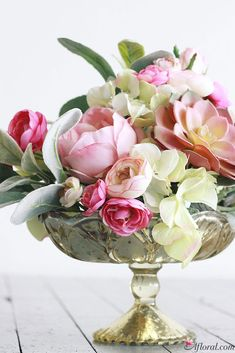 Artificial Spring Centerpiece in Light Pastel Tones