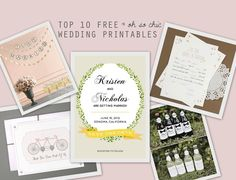 Top 10 Free Wedding Printables | Bridal Musings