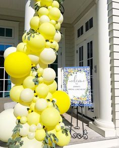 🍋 🍋 lemon themed 🍋 🍋 bridal luncheon happening now in Seaside! Congrats to this Bride To Be 👰🏻 Bridal Shower Balloons, Bridal Shower Decorations, Wedding Decorations, Lemon Party, Bridal Shower Planning, Bridal Luncheon, Yellow Wedding, Gold Wedding, Baby Shower Themes