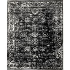 Unique Loom Sofia Black 8 ft. x 10 ft. Area Rug-3137804 - The Home Depot
