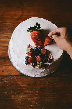 Chai and Rose Fresh Berry Cake | A Brown Table