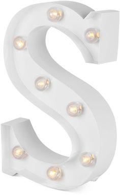 Alice & Fox Lampa Bokstav S, Clear White