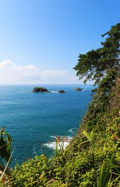 View of Isla Verde, seen while hiking in Manuel Antonio National Park, Costa Rica.